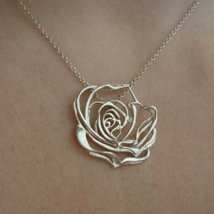 Josie Rose white diamond and sterling silver pendant