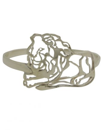 Defiance Lion cuff bangle in aid of the Born Free Foundation