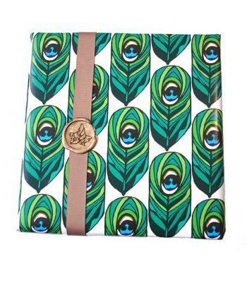 peacock luxury gift-wrap