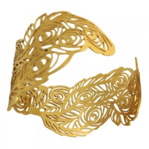 gold plated peacock bangle