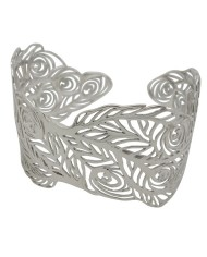 Peacock bangle in sterling silver