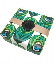 peacock luxury gift-wrap